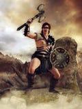 Keltische strijder met een bijl vector illustratie