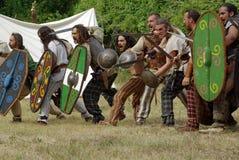 Keltische strijders stock foto's