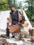 Keltische strijders die voor slag voorbereidingen treffen Royalty-vrije Stock Foto's