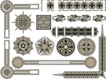 Keltische traditionele elementen Stock Afbeeldingen