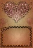 Keltische valentijnskaart Royalty-vrije Stock Afbeelding