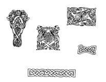 Keltische vectortatoegering Stock Foto's