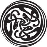 Keltische verwobene Tiere Stockfotografie