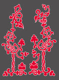 Keltische Verzierung der Blumen Lizenzfreies Stockfoto
