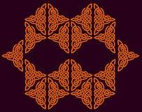 Keltische Verzierung der Blumen Lizenzfreie Stockbilder