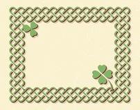 Keltischer Artknotenrahmen Stockfoto