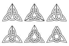 Keltischer Dreiheitsknotensatz Stockbild