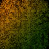 Keltischer Druide bearbeitet 3 - Grungy Hintergrund Stockbild