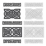 Keltischer horizontaler Knoten des Vektors Ethnische Verzierung vektor abbildung