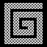 Keltischer Knoten legte in rechtsläufige Spirale, Vektorillustration Stockbild