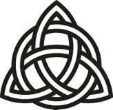 Keltischer Knoten mit Entwürfen stock abbildung
