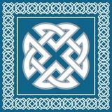 Keltischer Knoten, Symbol stellt vier Weltelemente, Vektor dar Lizenzfreies Stockbild