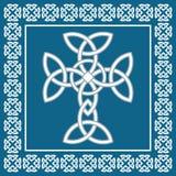 Keltisches irisches Kreuz, symbolisiert Ewigkeit, Vektorillustration stockfotografie