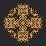 Keltisches Kreuz des Vektors Ethnische PR T-Shirt geometrisches Design der Verzierung Stockfotos