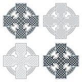 Keltisches Kreuz des Vektors Ethnische PR T-Shirt geometrisches Design der Verzierung Stockfotografie