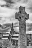 Keltisches Kreuz-Grundstein Stockfotos