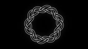 keltisches Schwarzweiss-Clip des Knoten-4k vektor abbildung