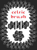 Keltisk borste Arkivfoton