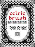 Keltisk borste för ram Arkivfoton