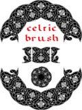 Keltisk borste för ram Royaltyfri Bild