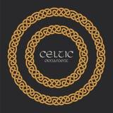 Keltisk fnuren flätad prydnad för ramgränscirkel vektor illustrationer