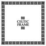 Keltisk fnurenfyrkantram Royaltyfri Bild