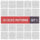 Keltisk modelluppsättning Arkivbilder
