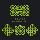 Keltisk Plexusdesignmodell Seamless bakgrund Design för dag för St Patrick ` s royaltyfri illustrationer