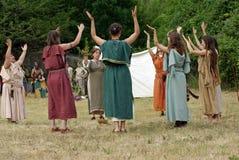Keltisk ritual arkivbilder