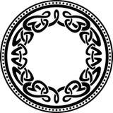 Keltisk rund modellgräns Arkivbild