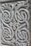 Keltisk stenprydnad royaltyfria bilder