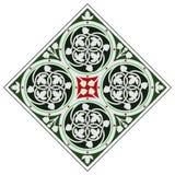 Keltisk tegelplattaprydnad royaltyfria bilder