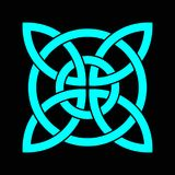 Keltisk treklöverfnuren i cirkel ireland symbol stock illustrationer