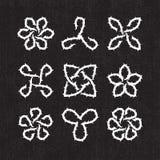Keltiska dekorativa taggbeståndsdelar Royaltyfria Bilder