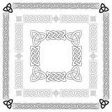 Keltiska fnuren, modeller, ramvektor Royaltyfri Bild