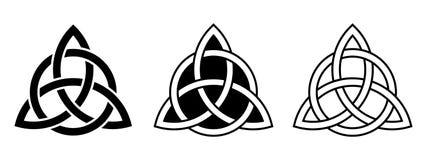 Keltiska trinityfnuren också vektor för coreldrawillustration vektor illustrationer