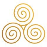 Keltiska Triskele royaltyfri illustrationer