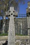 Keltiskt fnurenarbetskors - Skottland Royaltyfria Bilder