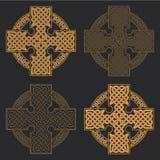 Keltiskt kors för vektor Etnisk pr för T-tröja för geometrisk design för prydnad Royaltyfria Bilder