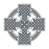 Keltiskt kors för vektor Etnisk pr för T-tröja för geometrisk design för prydnad Arkivbild
