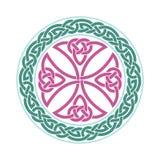 Keltiskt kors för vektor etnisk prydnad planlägg geometriskt Royaltyfri Foto