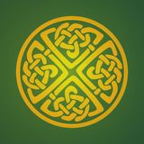 Keltiskt prydnadsymbol Arkivbilder