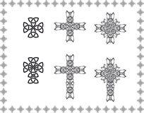 Keltiskt stylizationkors Royaltyfri Bild