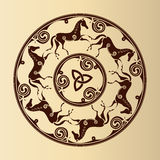 Keltiskt symbol av hästar royaltyfria foton