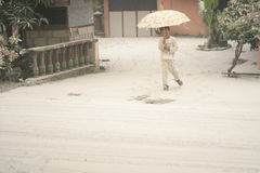 Kelud splash of volcanic ash Stock Photos