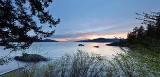 Kelvin Grove Beach - Löwe-Bucht, BC stockbild