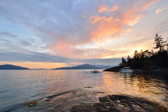 Kelvin Grove Beach - Löwe-Bucht, BC lizenzfreie stockbilder