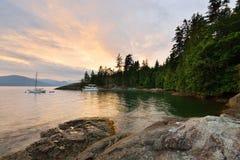 Kelvin Grove Beach - Lions Bay, BC Stock Image