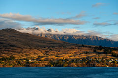 Kelvin Heights and Remarkables at dusk Royalty Free Stock Images