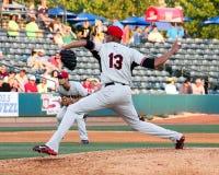 Kelvin Vasquez, Hickory Crawdads. Hickory Crawdads pitcher Kelvin Vasquez #13 Royalty Free Stock Photo